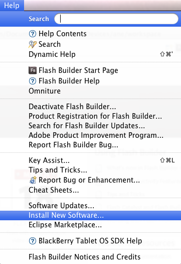 Flash Builder Install New Software